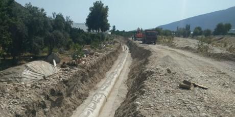 SUBOR Provided 12.5 km GRP Pipe to Antalya Finike Kapıçay Irrigation Project.