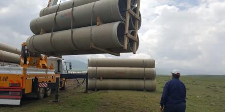 Erzurum Sakalıkesik Равнина орошения, 2-ая фаза, 2-ая группа Проектные отгрузки завершены.