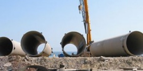 İçdaş Steel Power Plant Cooling Water Line Pipes were delivered.