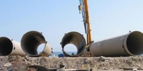Поставка трубопровода охлаждающей воды на стальную электростанцию Ицдаш.
