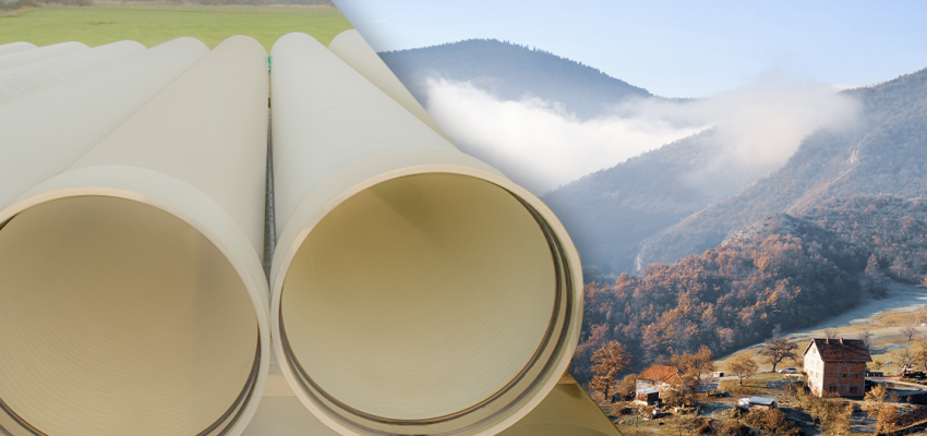 Subor GRP Pipes are used in Ostruznica Bridge Project in Serbia