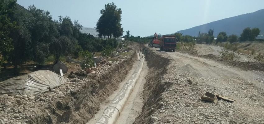 SUBOR, Antalya Finike Kapıçay Sulaması Projesine 12,5 km CTP Boru Temin Etti.