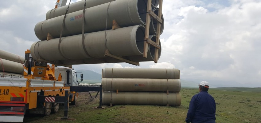 Erzurum Sakalıkesik Plain Irrigation 2nd Phase 2nd Group Project Shipments Completed.