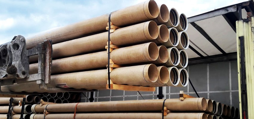 SUBOR started manufacturing and shipment of DN 250 mm GRP pipes