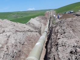 Diyarbakır'daki Kuruçay Barajı Sulaması Projesinin 1. Siparişinin Sevkiyatı