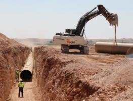 Viranşehir Pompaj Sulaması 1. Kademe 1. ve 2. Kısım Boruları SUBOR Tarafından Tedarik Edildi.