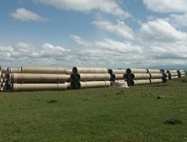Kars Arpaçay Koçköy Göleti Sulaması Projesine Boru Temini Başladı